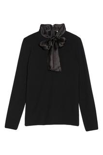Черная блузка с бантом Sandro
