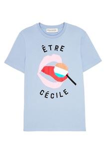 Серая футболка с принтом Etre Cecile