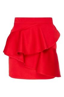 Красная юбка с оборками Doali Isabel Marant Etoile