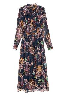 Шелковое платье с люрексом Dalika Isabel Marant