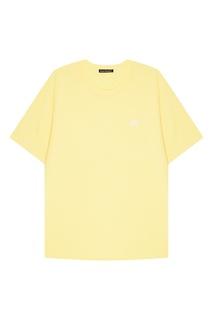 Желтая хлопковая футболка Acne Studios