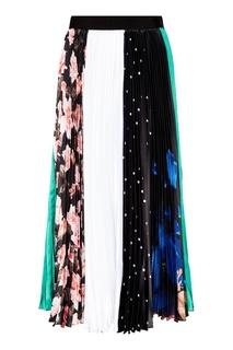 Комбинированная юбка с плиссе Msgm
