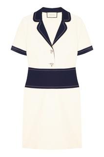 Мини-платье с отложным воротником Gucci