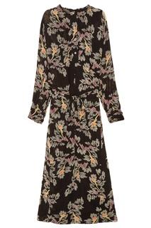 Приталенное платье-макси с принтом Isabel Marant Etoile