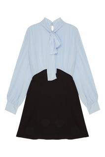 Комбинированное платье Miu Miu