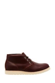 Бордовые кожаные ботинки Affex