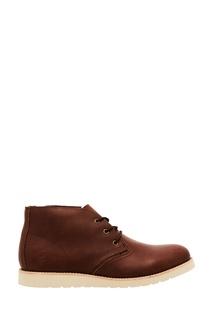 Коричневые ботинки с плоской подошвой Affex