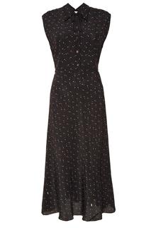 Черное платье в горошек Miu Miu