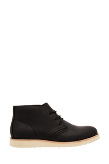 Черные ботинки с белой подошвой Affex