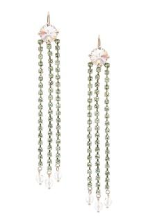 Серьги с зелеными кристаллами Miu Miu