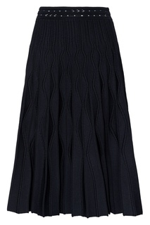 Черная юбка миди с отделкой Sandro