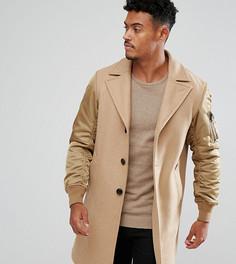 Пальто с контрастными рукавами Diesel - Бежевый