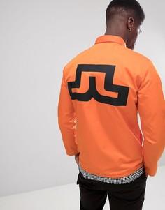 Оранжевая куртка с логотипом J Lindeberg - Оранжевый J.Lindeberg