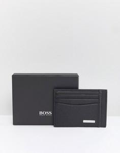 Черная визитница с логотипом BOSS - Черный