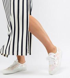 Кроссовки с переливающимися пайетками Superga 2750 - Белый