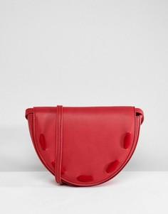 Полукруглая сумка через плечо Liquorish - Красный