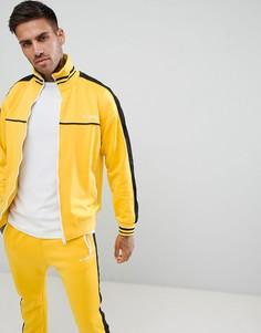 Желтая спортивная куртка с полосками по бокам Diesel - Желтый
