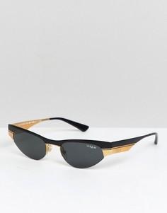 Солнцезащитные очки кошачий глаз в узкой оправе Vogue X Gigi - Черный