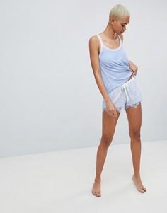 Кружевные пижамные шорты Hunkemoller - Синий