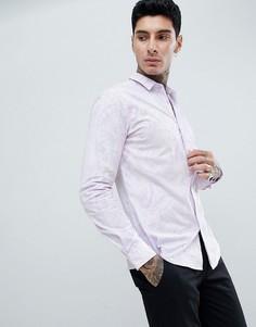 Облегающая рубашка с длинными рукавами Twisted Tailor - Фиолетовый