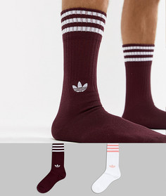 Набор из 2 пар красных носков adidas Originals DH3361 - Красный