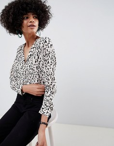 Блузка со звериным принтом Selected Femme - Мульти