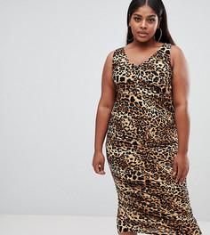 Платье мидакси с анималистичным принтом ASOS DESIGN Curve - Мульти
