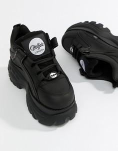 Низкие черные кроссовки на платформе Buffalo Classic - Черный