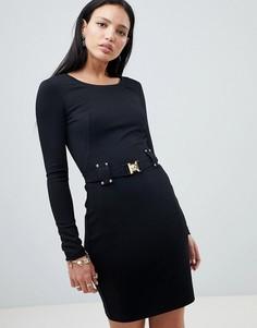 Платье с поясом Versace Jeans - Черный