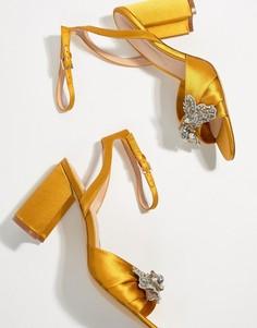 Декорированные босоножки на каблуке горчичного цвета ALDO - Желтый