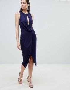 Платье миди с запахом Lavish Alice - Темно-синий