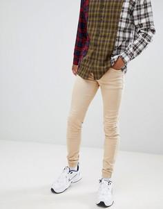 Байкерские джинсы скинни Sixth June - Бежевый