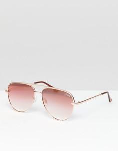 Солнцезащитные очки-авиаторы Quay Australia X Desi - Розовый