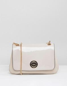 Лакированная сумка через плечо с ремешком-цепочкой Dune Occasion - Бежевый
