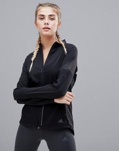 Черная куртка со светоотражающей отделкой на рукавах adidas Running Supernova - Черный