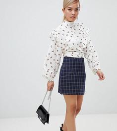 Мини-юбка в клетку Fashion Union Petite - Синий