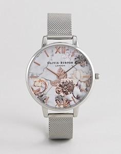 Часы с сетчатым браслетом Olivia Burton OB16CS10 - Серебряный