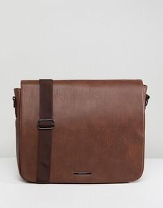 Светло-коричневая сумка сэтчел с откидным клапаном River Island - Рыжий