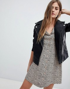Байкерская куртка из кожзаменителя New Look - Черный
