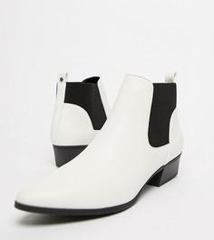 Ботинки челси на среднем каблуке Qupid - Белый