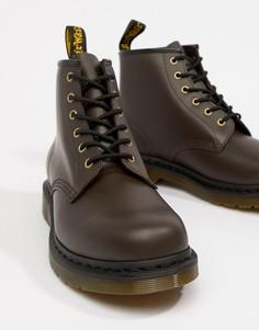 Ботинки шоколадного цвета с 6 парами люверсов Dr Martens 101 - Коричневый