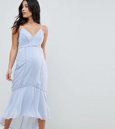 Платье миди на бретельках с кружевной вставкой ASOS DESIGN Maternity - Мульти