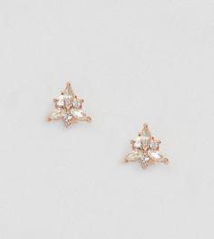 Серьги-гвоздики с покрытием розовым золотом Kingsley Ryan - Золотой