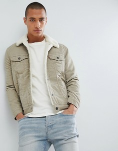 Вельветовая куртка с искусственным мехом Levis Type 3 - Бежевый Levis®