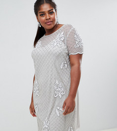 Платье с отделкой Lovedrobe Lux - Серый