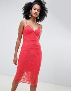 Кружевное платье миди New Look - Оранжевый