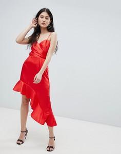 Асимметричное платье Finders - Красный