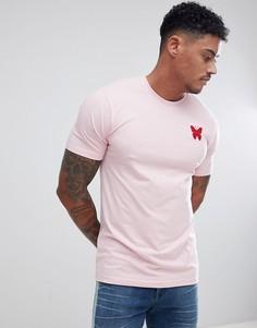 Облегающая розовая футболка с логотипом Good For Nothing - Розовый