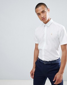 Приталенная строгая рубашка с короткими рукавами Farah - Белый