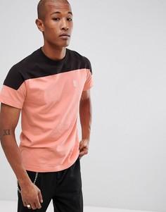Коралловая футболка с контрастной вставкой HUF Camino - Розовый